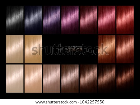Hair Color Palette Range Swatches Showing Stock Photo & Image ...