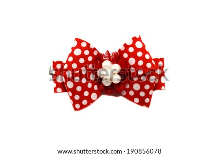 Hair decoration for girl on a white background. - stock photo