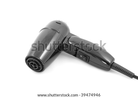Hair dryer is isolated on a white background - stock photo