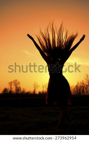 Hair flying - stock photo