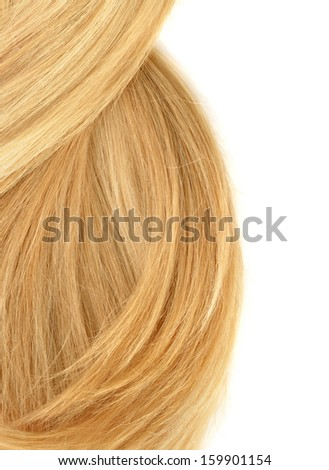 Hair isolated on white