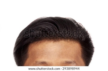 Hair loss isolated on white background. - stock photo