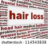 Hair loss message background. Baldness problem poster design - stock photo