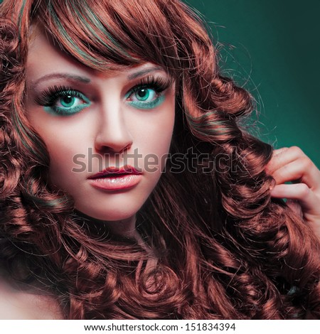 hair&makeup beauty - stock photo