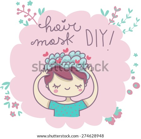Hair mask do it yourself illustration