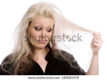 Hair problems - stock photo