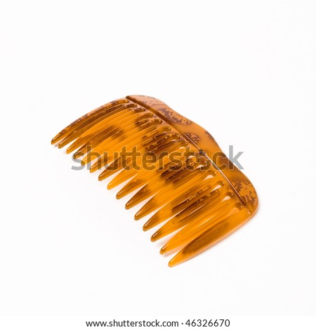 Hair slide for woman's hair isolated against white background.