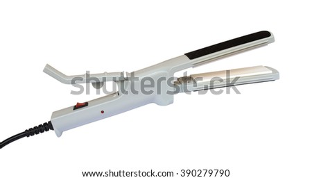 Hair straightener isolated on white background