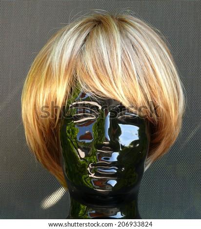 hair wig, modern haircut  - stock photo