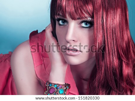 haircolors wild gace - stock photo