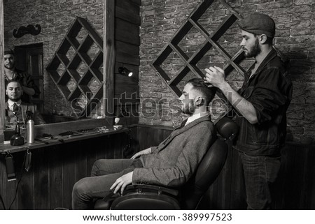 Haircut men Barbershop. Men's Hairdressers; barbers.