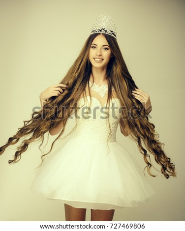 Hairdresser Cosmetics Haircare Prom Queen Beauty Stock Photo ...