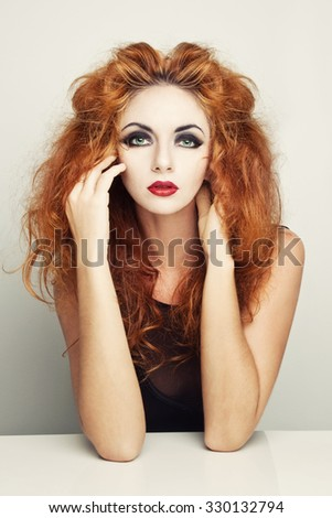 haired princess - stock photo