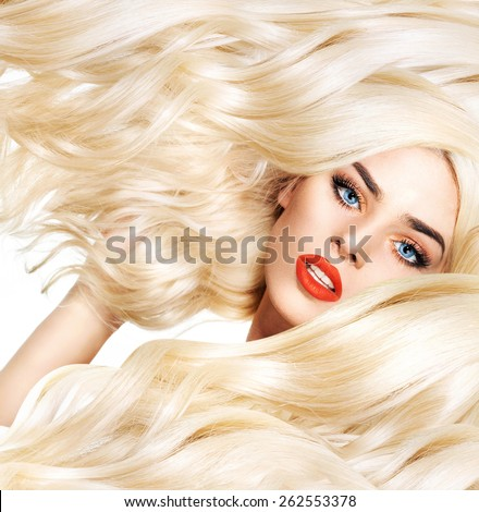 Hairstyle beauty portrait - stock photo