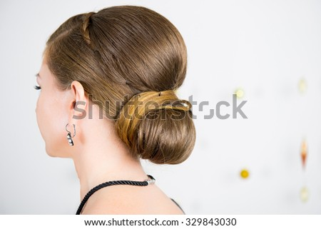 Hairstyle for adult women - stock photo