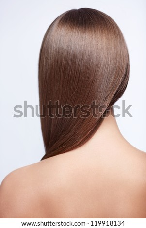 Hairstyle young girl isolated - stock photo