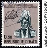 HAITI - CIRCA 1977: a stamp printed in Haiti shows Jean-Jacques Dessalines, Leader of the Haitian Revolution and the First Ruler of an Independent Haiti, Founding Father of Haiti, circa 1977 - stock photo