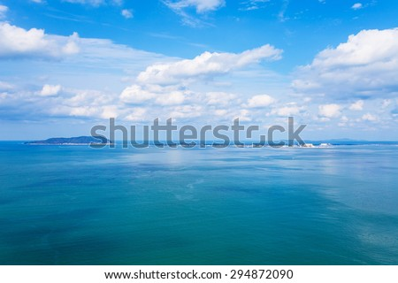 Hakata Bay seascape in Japan - stock photo