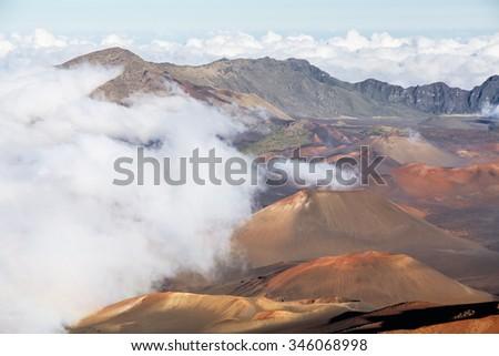 Haleakala crater, Maui Hawaii - stock photo