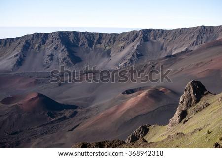 Haleakala Crater, Maui, Hawaii -9 - stock photo