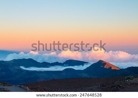 Haleakala Crater / Volcano - stock photo