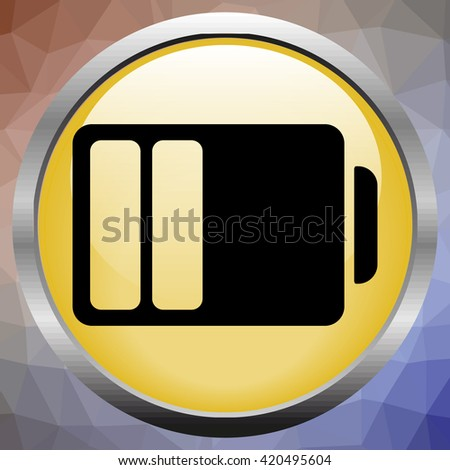 Half Battery Bold Line  Icon - stock photo