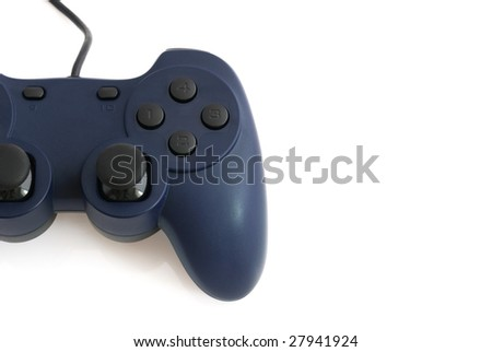 Half Blue Game Pad