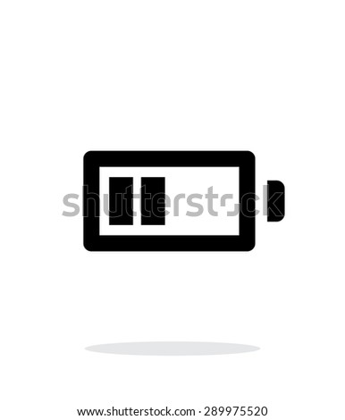 Half charge battery simple icon on white background. - stock photo