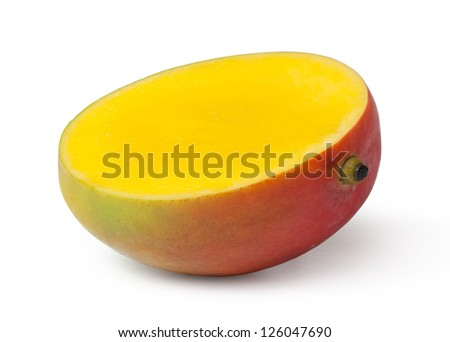 Mango slice stock images royalty free images vectors shutterstock half cut mango fruits on white background ccuart Choice Image