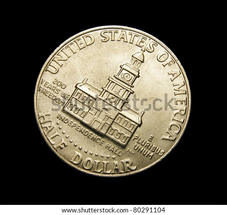 Half dollar coin - stock photo