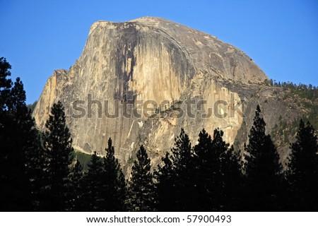 Half Dome in Yosemite National Park, California - stock photo
