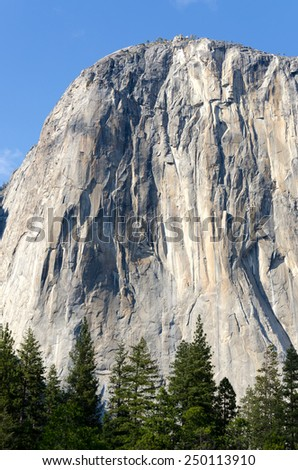 Half Dome in Yosemite National Park in California - stock photo