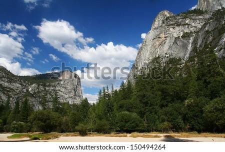 Half dome of Yosemite National Park, California, USA - stock photo