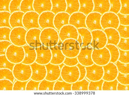 Half of orange  background - stock photo