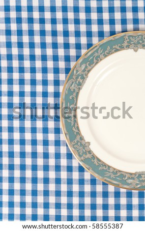 Half of Plate Top Angle View with Space for Text - stock photo