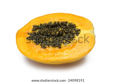 Half Paw Paw on white with clipping path