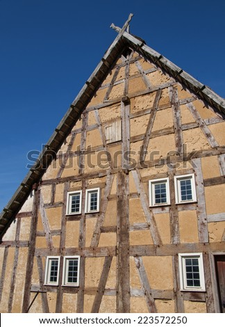 Half-timbered house - stock photo