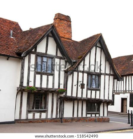 halftimbered house lavenham england stock photo 118542490 shutterstock. Black Bedroom Furniture Sets. Home Design Ideas