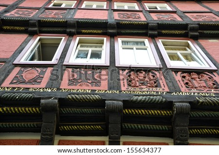 Half-timbered house in Quedlinburg