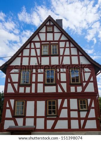 Half-timbered house in Taunus/Germany - stock photo