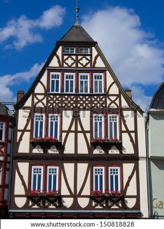 Half-timbered old house inLimburg/ Hesse/Germany - stock photo