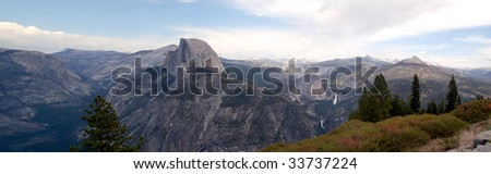 Halfe Dome Yosemite National Park - stock photo
