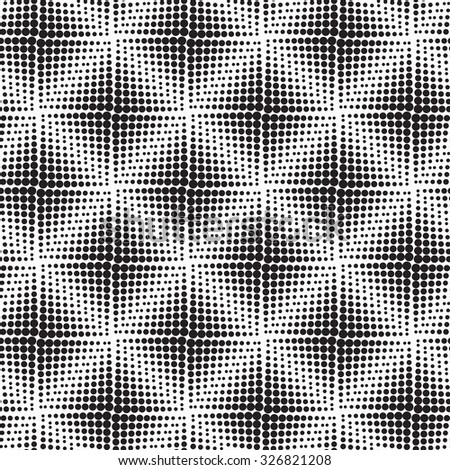 Halftone background seamless pattern - abstract dotted seamless pattern background squares - stock photo