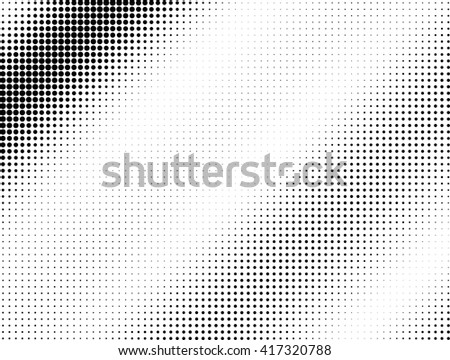 Halftone black dotted wave background pattern - stock photo