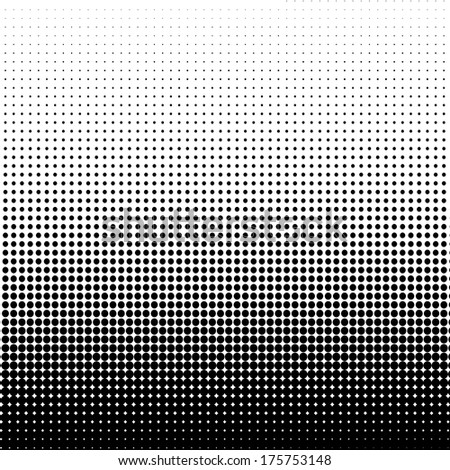 Halftone dots background - stock photo