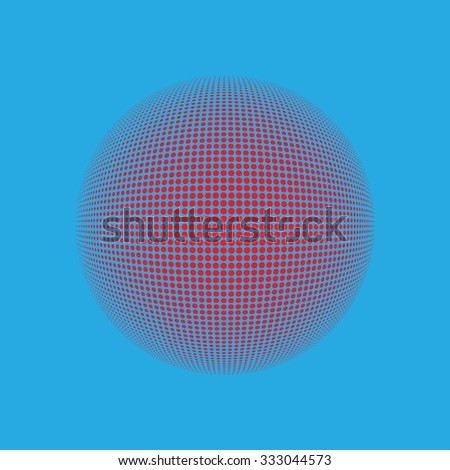 Halftone  logo template. Colorful round icon, abstract globe symbol, business concept. Abstract colorfu dotted sphere. Science and tourism, technology or financial background