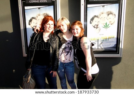HALIFAX, CANADA - APR 16:  The ladies of Trailer Park Boys, Sarah Dunsworth, Lucy DeCoutere and Jeanna Harrison before the premiere of their new movie Don't Legalize It Apr 16, 2014 Halifax Canada. - stock photo