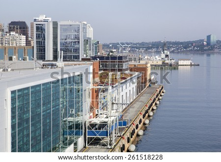 Halifax city port for cruise ships (Nova Scotia, Canada) - stock photo
