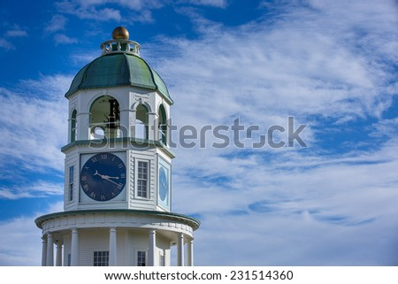 Halifax Clock Tower on Citadel Hill in Nova Scotia, Canada - stock photo