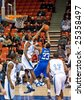 HALIFAX, NOVA SCOTIA (February 20, 2009). The Halifax Rainmen take on the Vermont Frost Heaves in Premier Basketball League action at the Halifax Metro Centre. The Frost Heaves won 100-98. - stock
